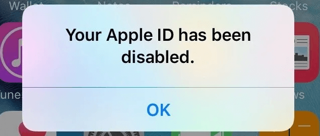Apple ID has been disabled