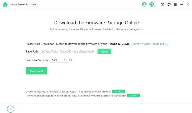 Download firmware-package online iDelock