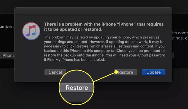Restore iPhone iDelock