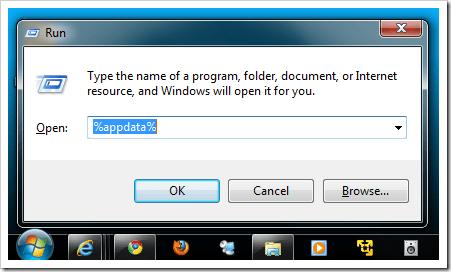type appdata