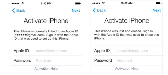 activation lock screen on iphone