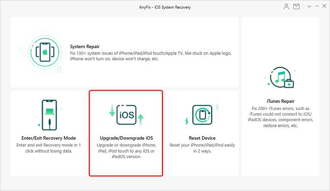 Anyfix upgrade downgrade iOS