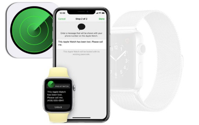 how to turn off find my iphone on Apple Watch