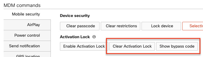 Activation lock bypass code on single device