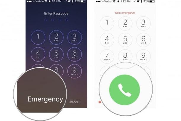 emergency call bypass