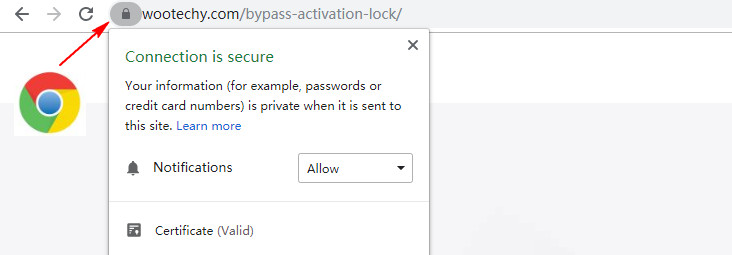Secure connection in Chrome