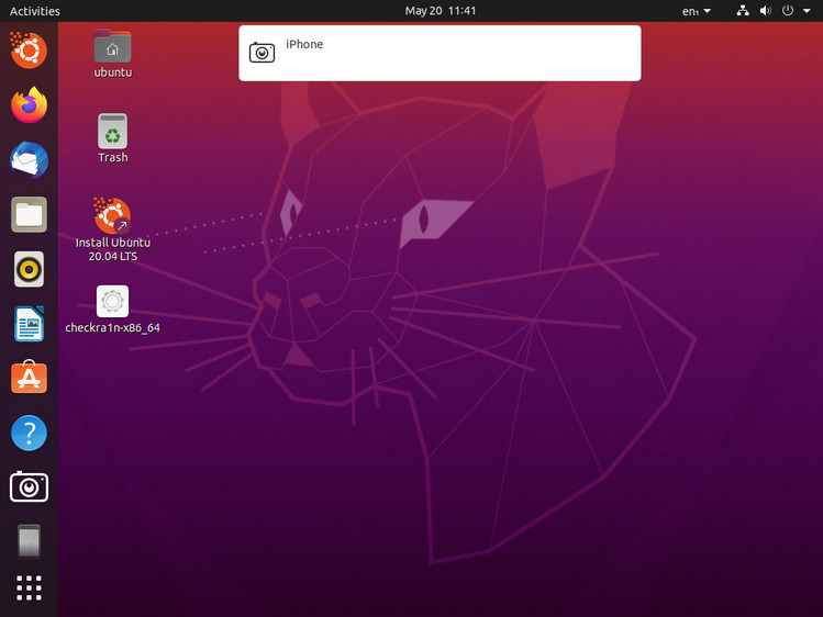connect your device to computer to enter into the Ubuntu system