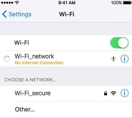 connect to wifi iphone