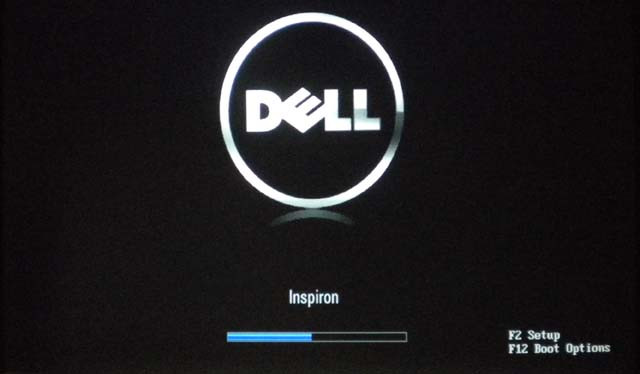 boot Dell by entering F12