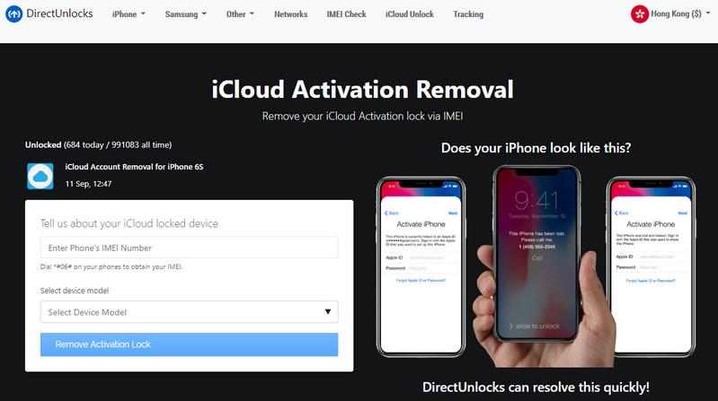 Direct Unlock iCloud Unlock Service
