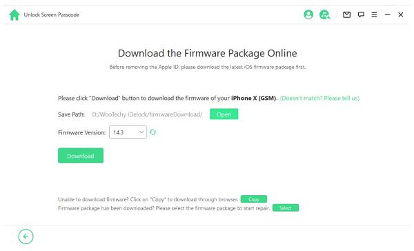 download firmware package idelock