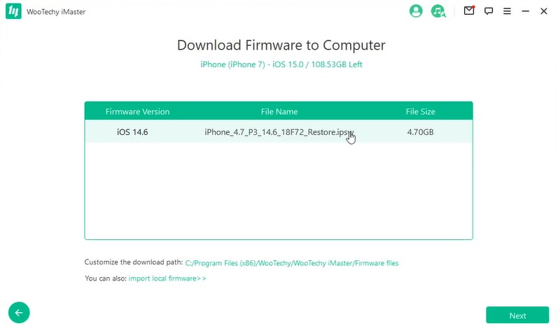 download firmware to computer by imaster