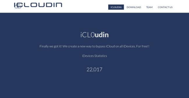 download iCloudin to remove icloud