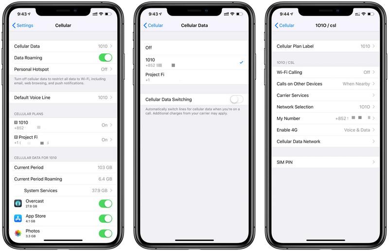 Phone dual settings