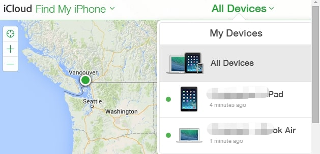 find iphone on web