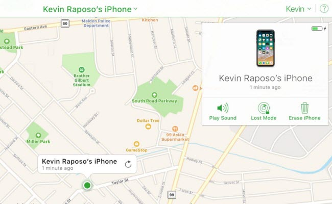 find my iphone with play sound