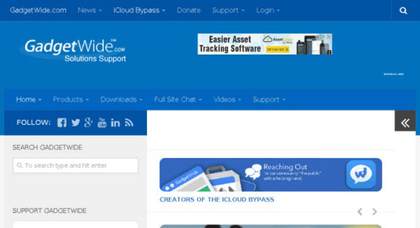 use GadgetWide to unlock icloud