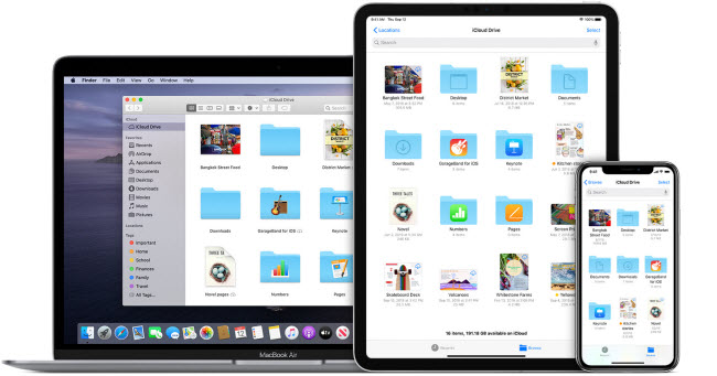 how to access icloud on different dvices