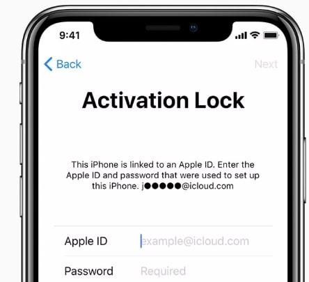 an iCloud locked iPhone