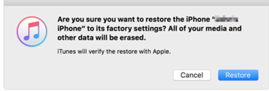 iTunes warning