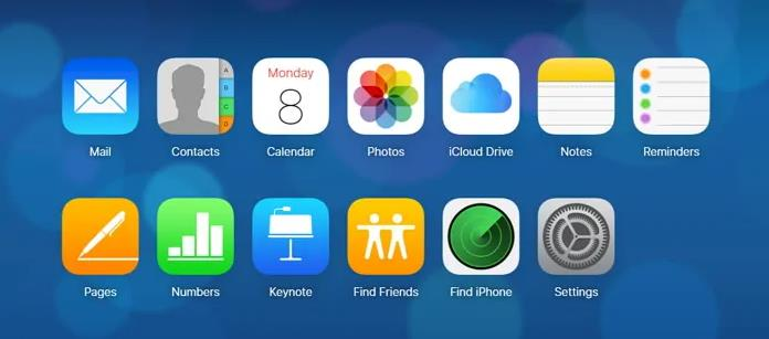 icloud find iphone interface