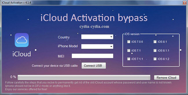 icloud activation bypass