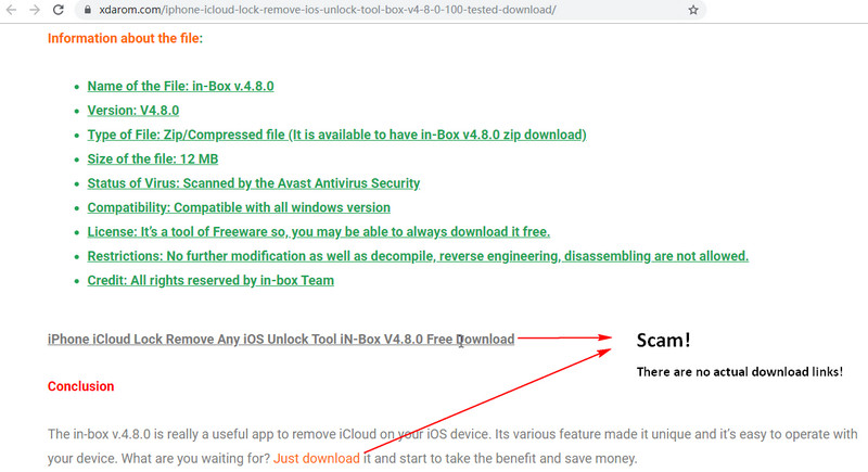 inbox v4.8.0 download scam