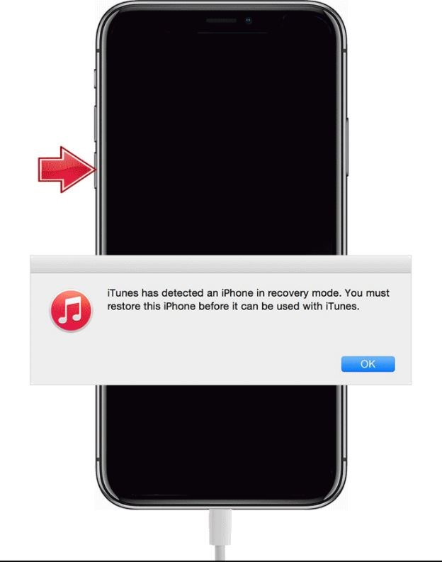 itunes detect an iphone in recovery mode