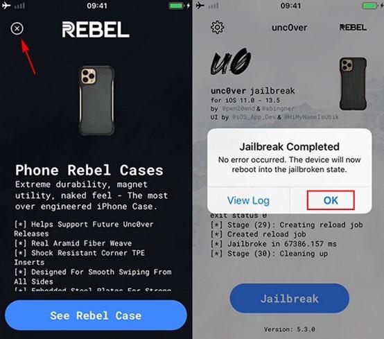 rebel case finish