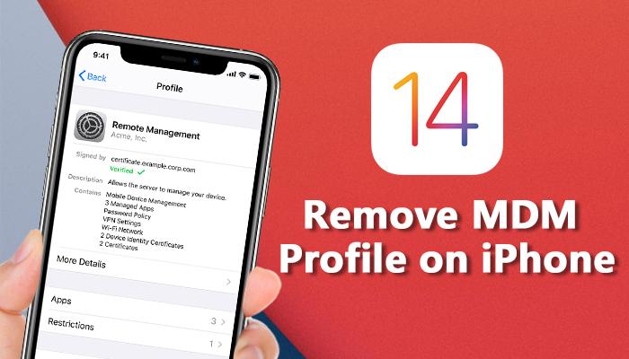 remove mdm profile on iphone