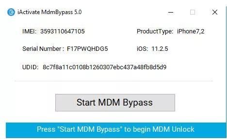start mdm bypass