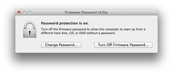 turn off firmware password