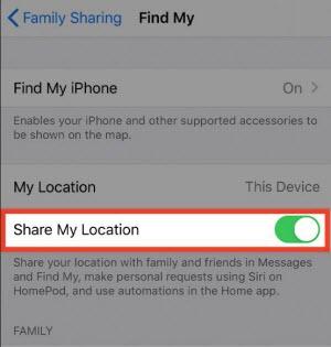 turn off share my location
