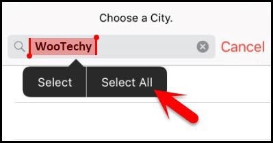 type wootechy in the search box
