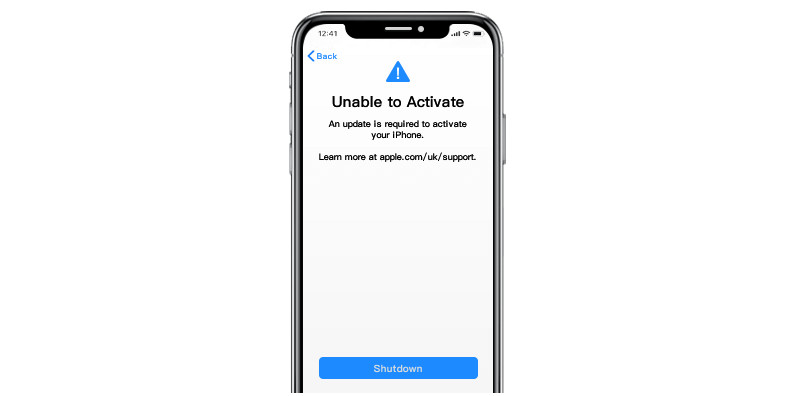 unable to activate