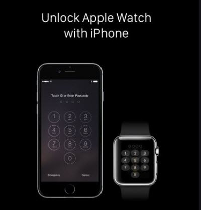 unlock apple watch with a paired iPhone