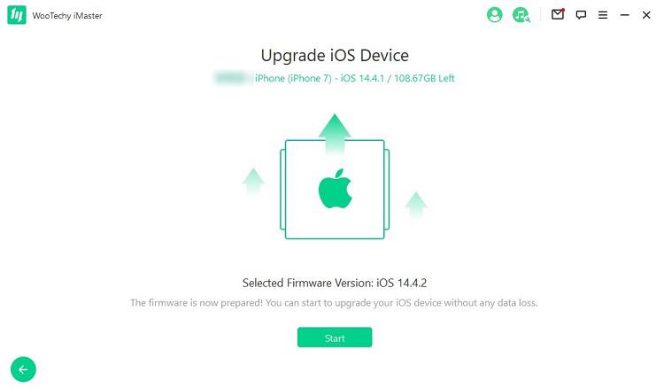 upgrade ios device