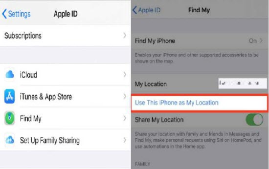 use another iPhone to change location