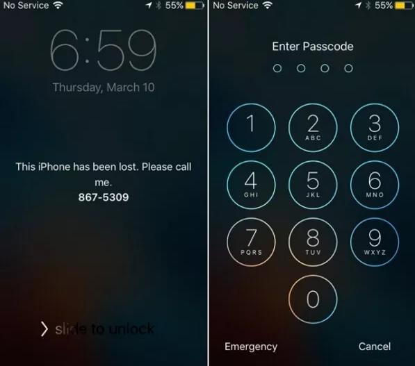 use password to unlock