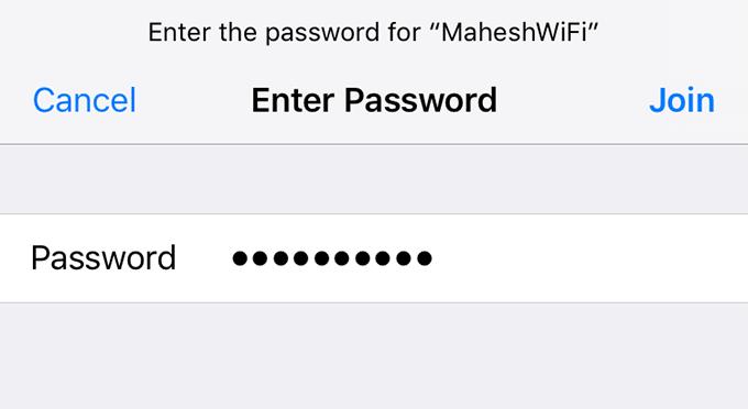wifi password iphone