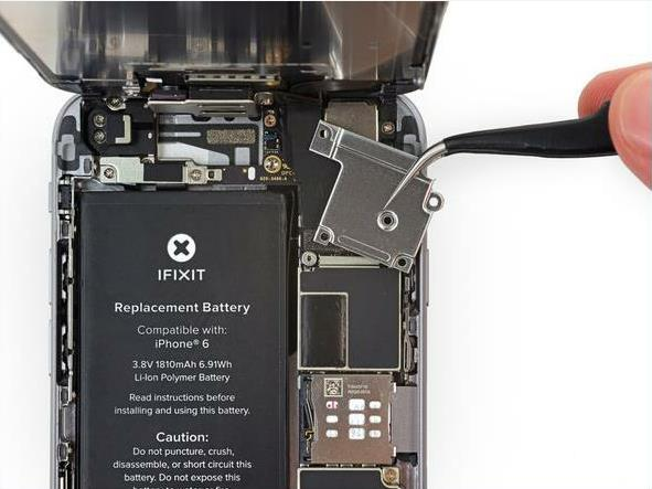 install the motherboard to the rear iPhone case