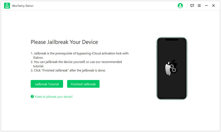 start to jailbreak your device
