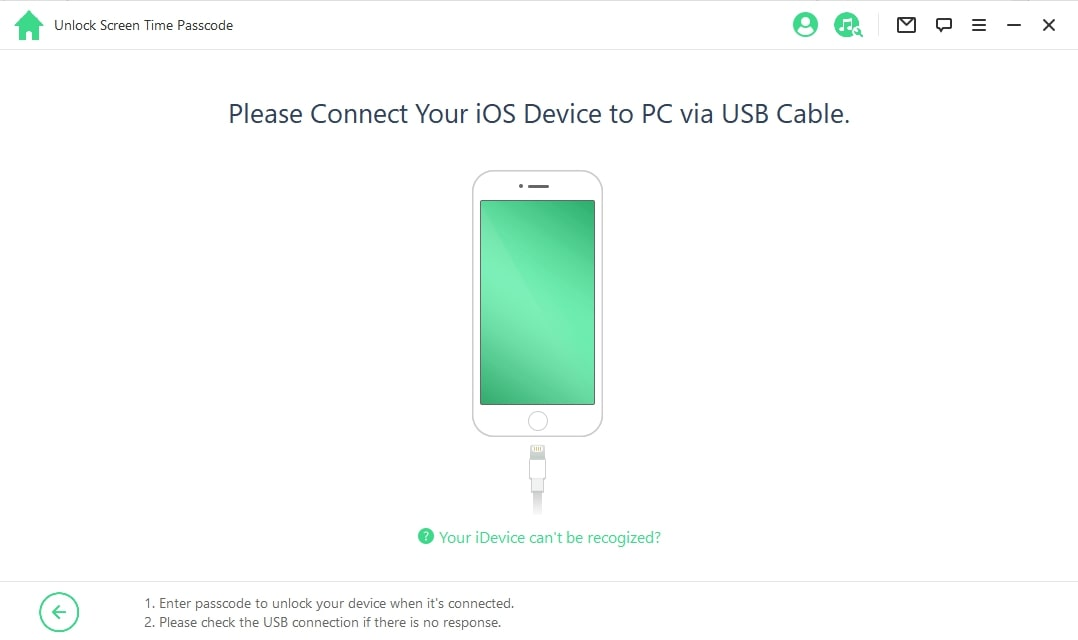 Connect device to computer with USB cable